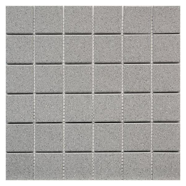 Grey Speckled 2x2 Porcelain Mosaic 12x12 - EACH