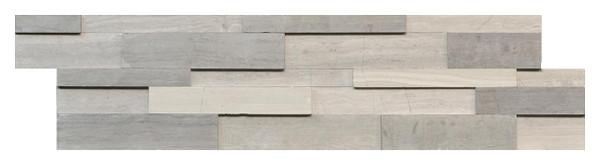 Wooden Grey/White Marble Ledger Panel - EACH
