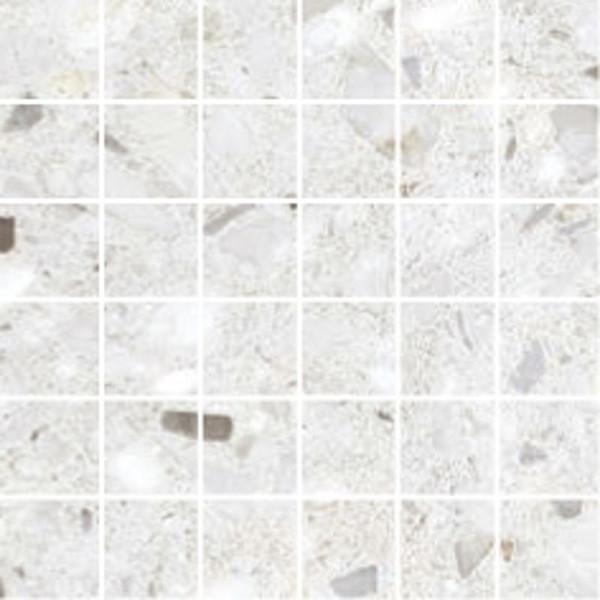 Frammenta Bianco 2x2 Matte Porcelain Mosaic 12x12 - EACH