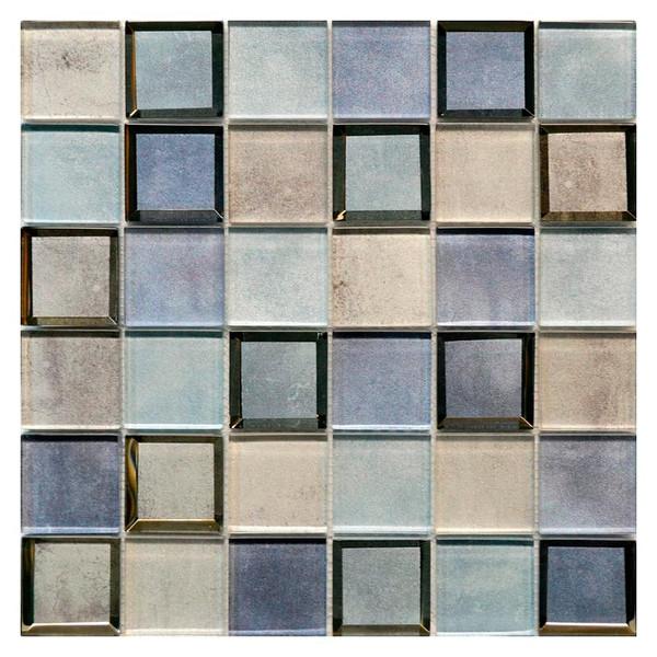 Clouds Blue 2x2 Glass Mosaic - EACH