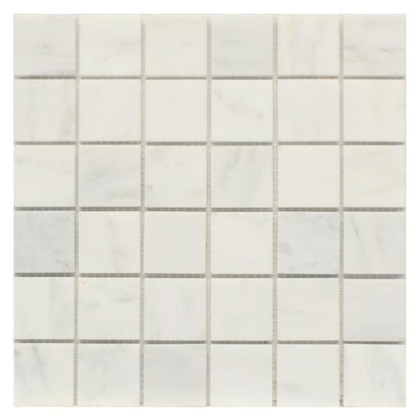 Statuary Carrara White Marble 2x2 Mosaic Polished 12x12 - EACH