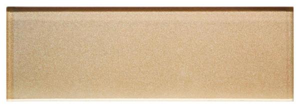 Champagne Mist 8 mm Metallic Glass Tile 3x9 - EACH