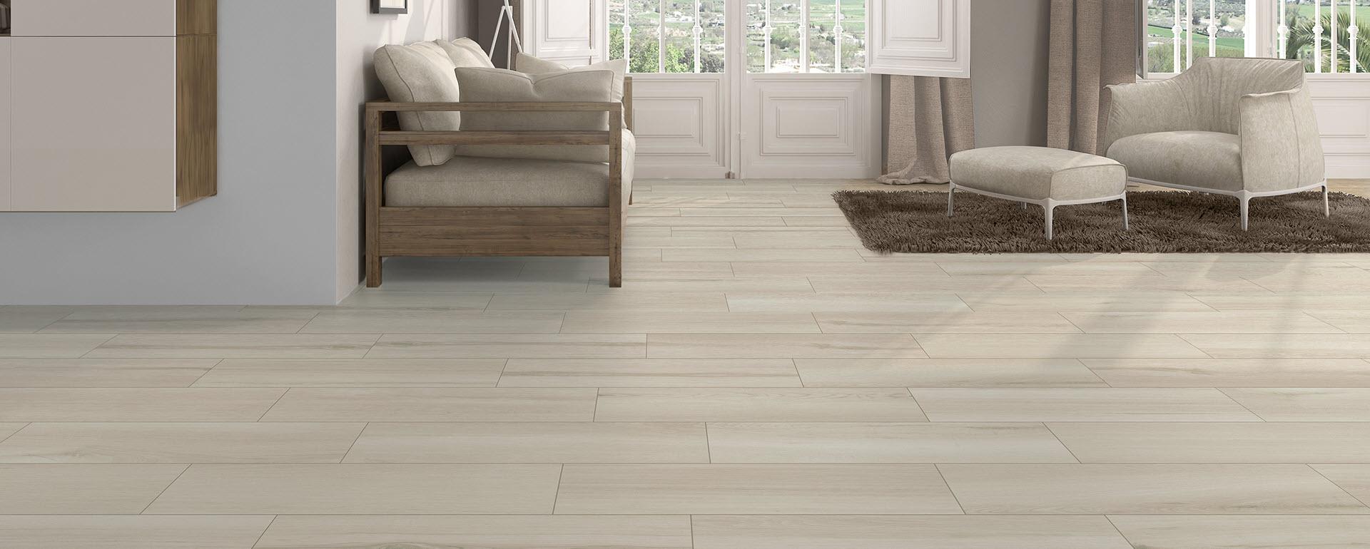 Timber Blanco Porcelain Tile 9x30