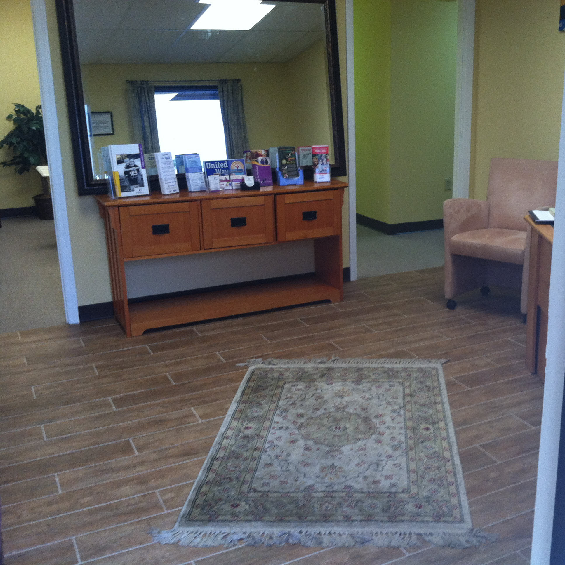 Check out the tile floor in the Big Brothers and Sisters of the Sun Coast-Lee County office.