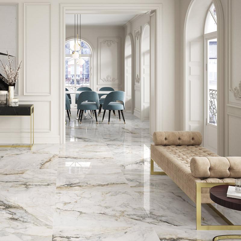 High gloss classic looking floor tile