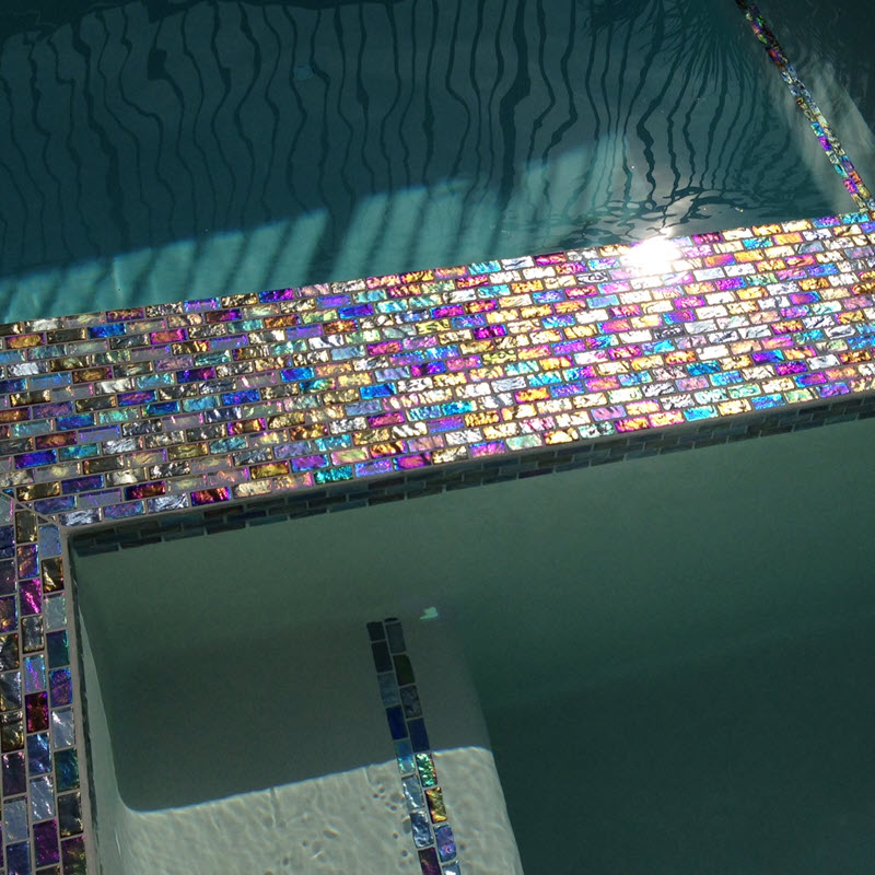 Shimmer and Iridescence are Perfect Additions to Outdoor Settings, Such as Pools and Spas.