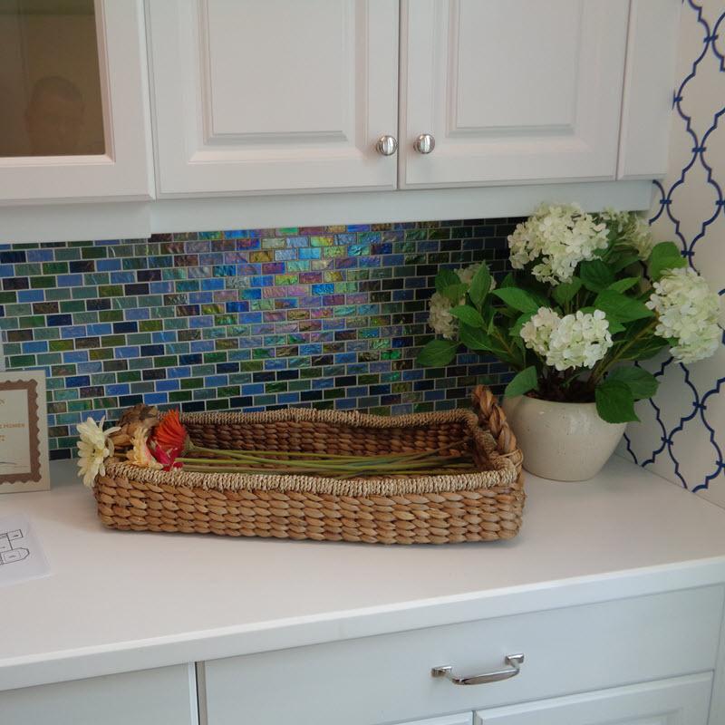 Iridescent Brick Mosaic