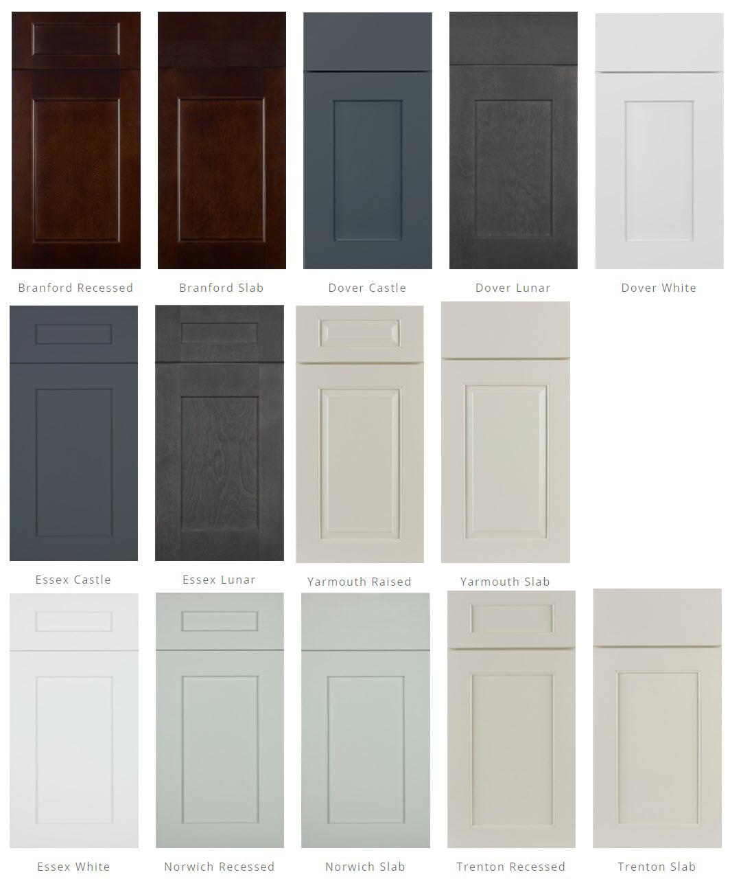 JSI Cabinetry door styles