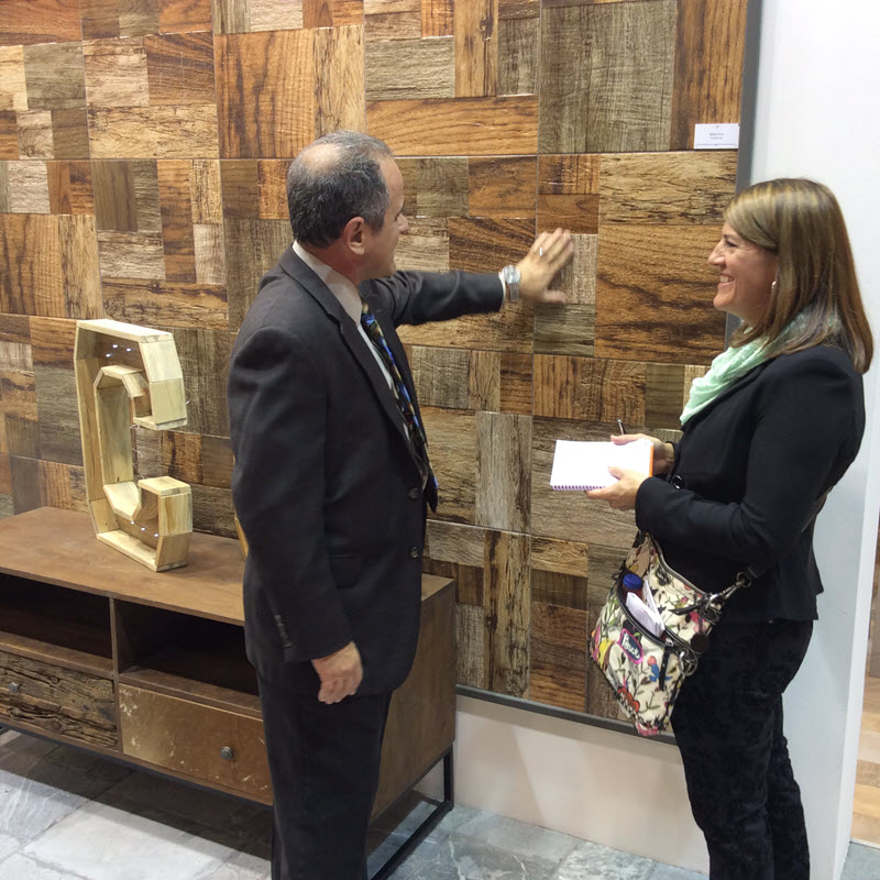 Kate meeting with tile representatives