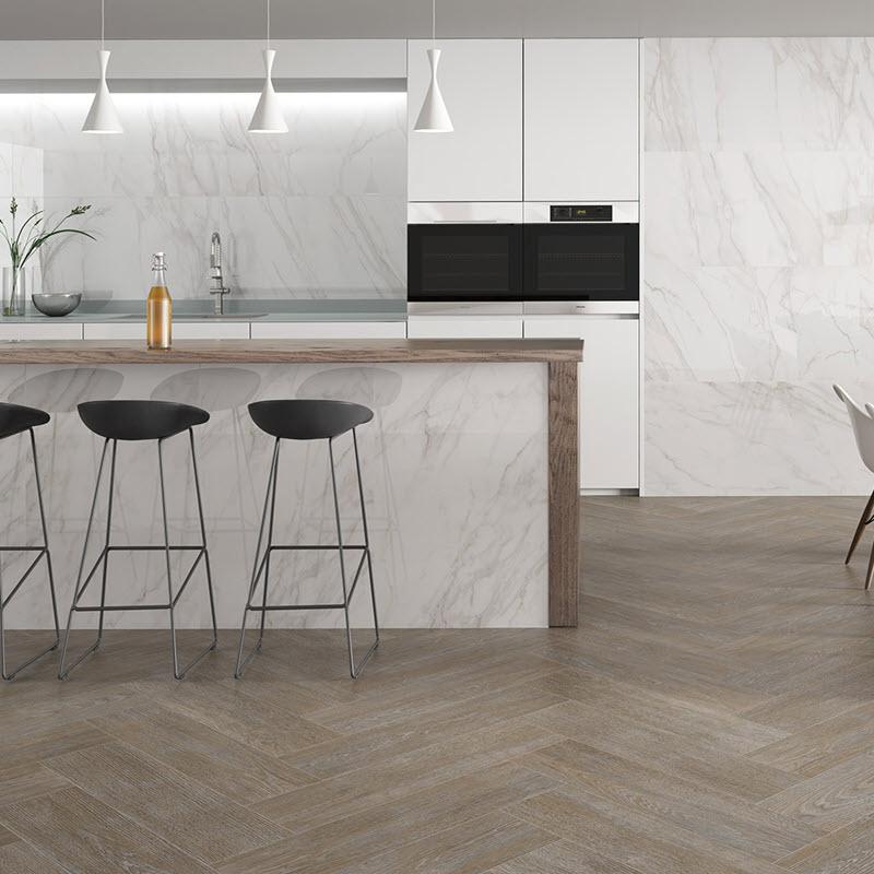 Go herringbone for your floors