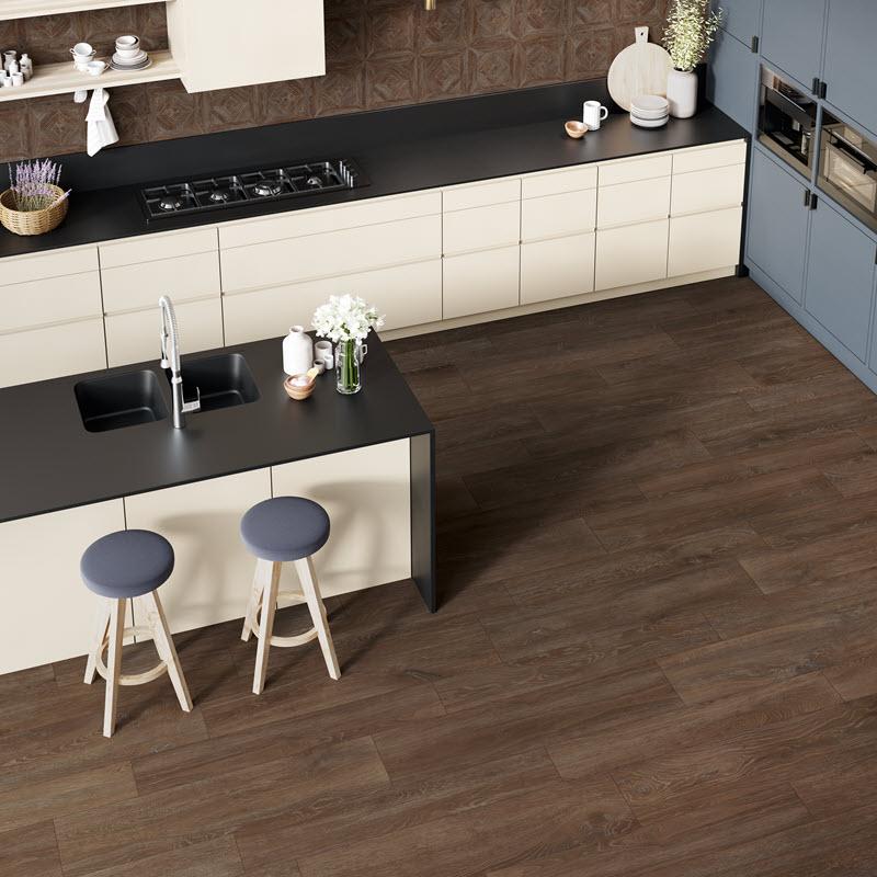 Wood looks on walls and floors