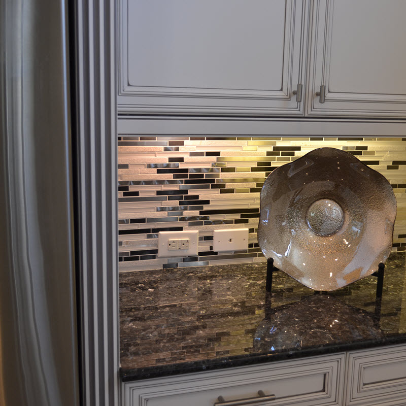 Linear Stone and Metal Mosaic