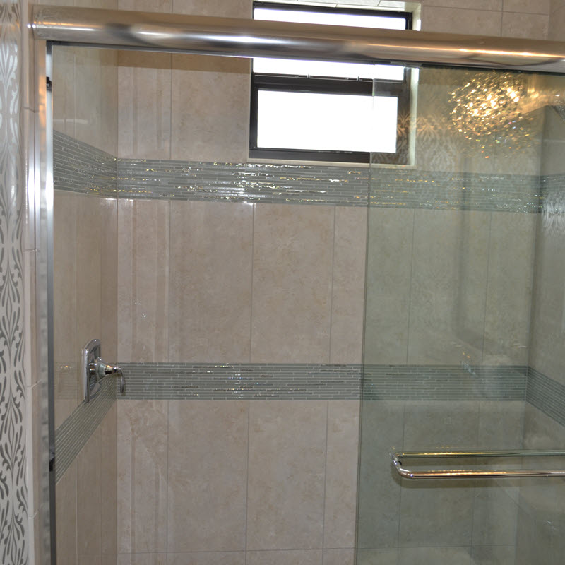 Add Two Mosaic Bands to Your Shower Walls