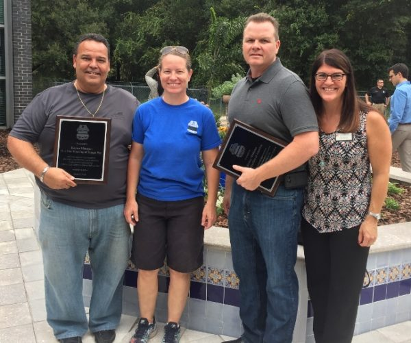 Tile Outlets participated in the creation of the Officer Marrero Memorial Garden in Tampa