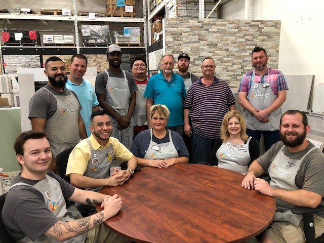 The Tile Outlets Team in Sarasota is ready to help you!