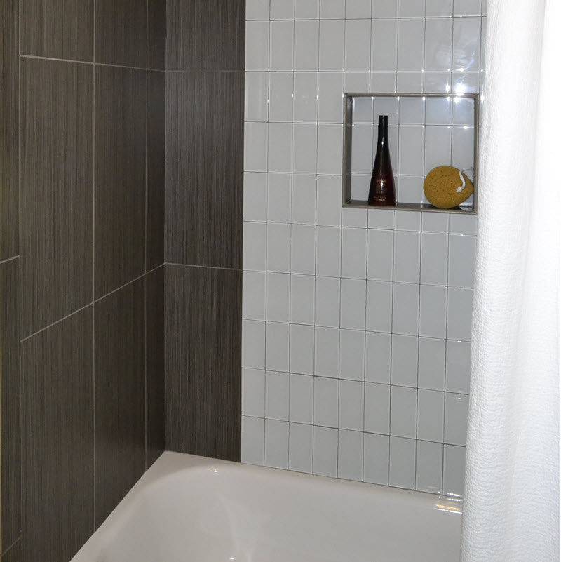 Install subway tile vertically