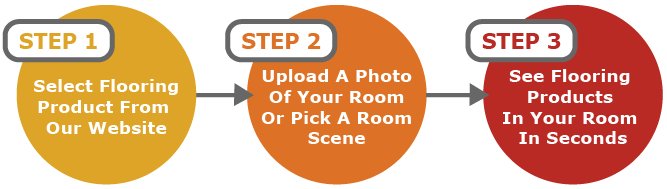 Visualize your new floors in three easy steps.