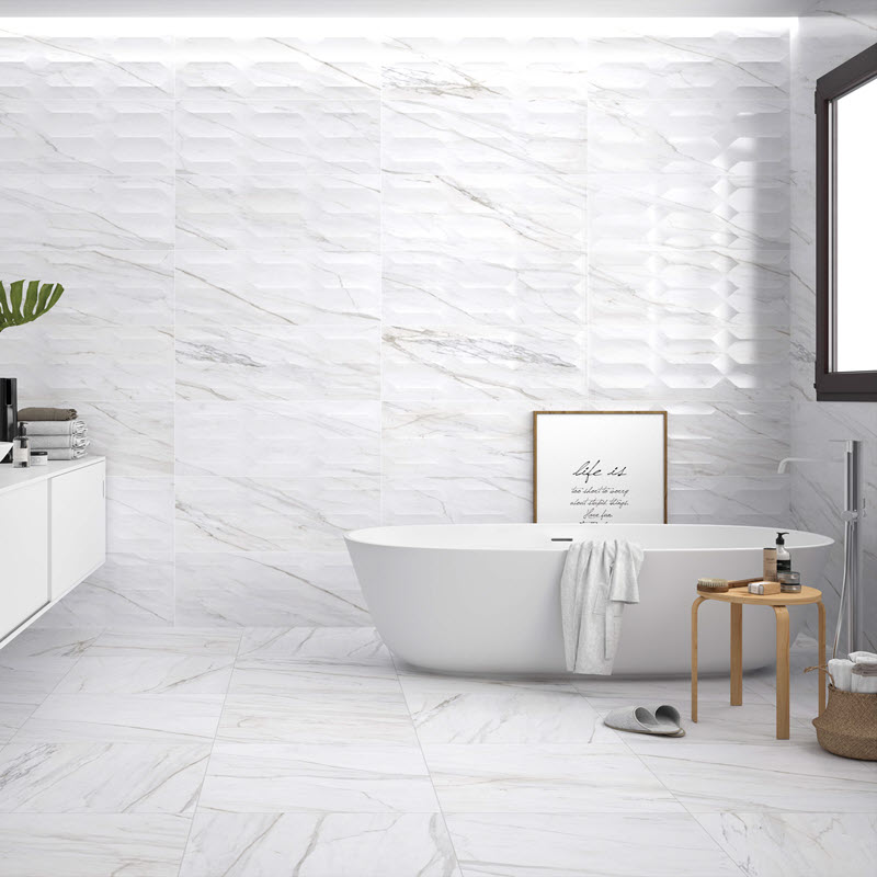 Clean and modern tile walls