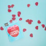 *Vegan Fizzy Strawberry Hearts (Plastic-free)