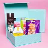 Vegan Gift Bundle. Fudge, Hot Chocolate And Gummies
