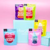 Set Of Five Vegan Gummies Gift Set. Plastic Free