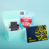 Eid Mubarak Chocolates And Hearts Gift Box