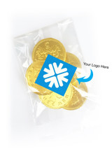 XMAS Chocolate Coin Bag With Branded Label