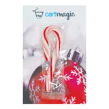 XMAS Branded Business Card With Mini Candy Cane
