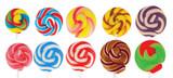 Branded Flat Swirl Lollipops