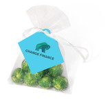 XMAS Brussels Sprouts Organza Bag With Branded Tag