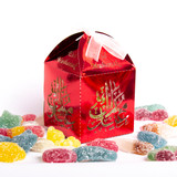 Eid Mubarak Sweet Gift box with Halal Sweets- Ruby Red