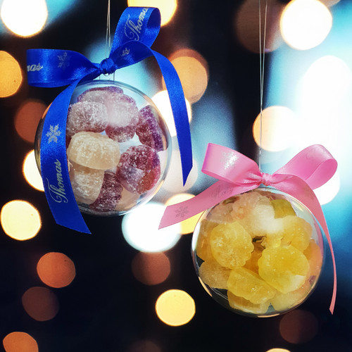 Personalised Fruity Vegan Pillows Christmas Bauble