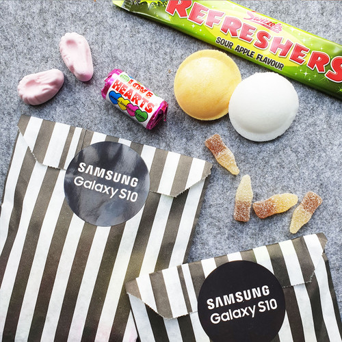 Branded Retro Sweet Mix Bags- Square or Circle Sticker