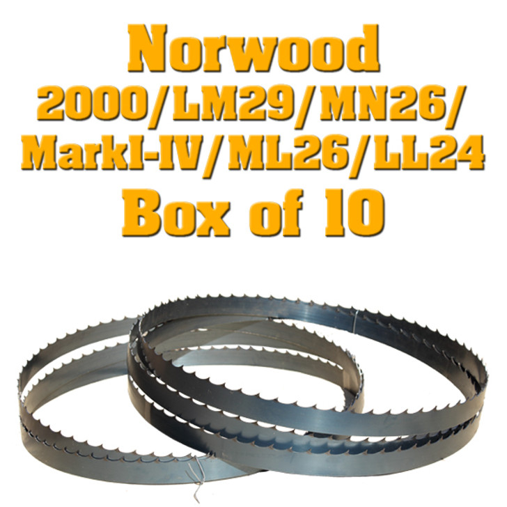 Bandsaw blades for Norwood Lumbermate