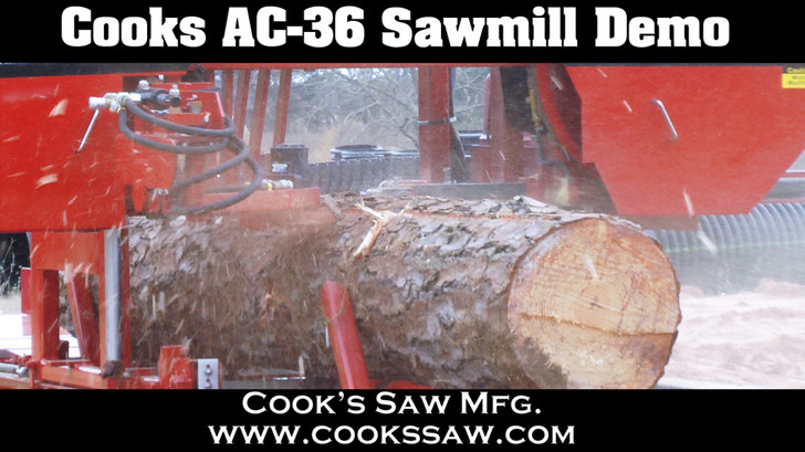 Demo dvd for Cooks saw equipment - portable sawmills, resaws, bandsaw blade sharpeners and setters