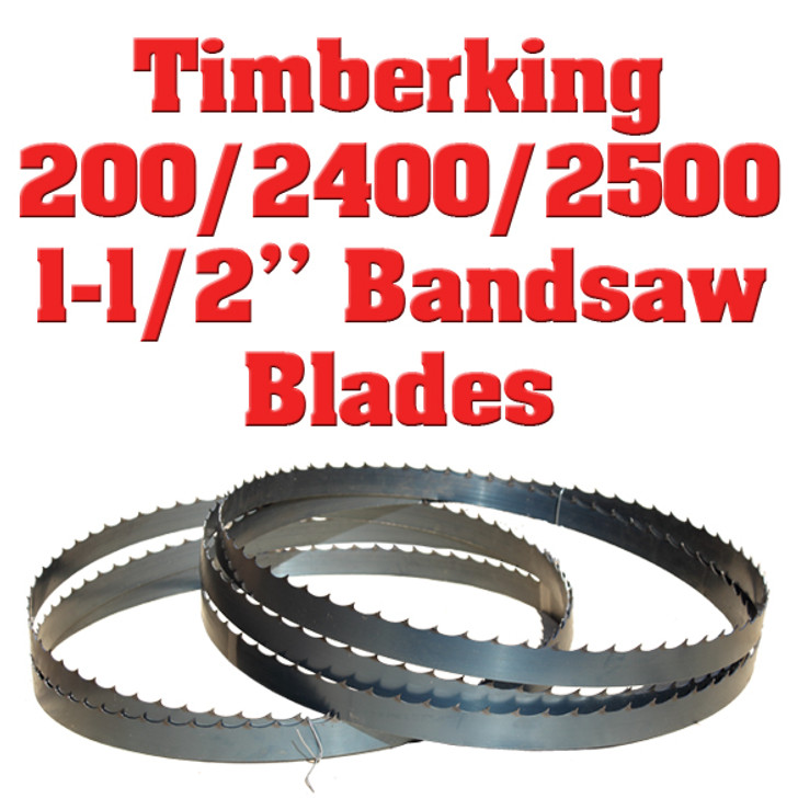 """1-1/2"""" bandsaw blades for the Timberking 200, 2400 and 2500 sawmills"""