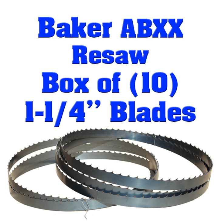 Bandsaw blades for Baker ABXX resaw