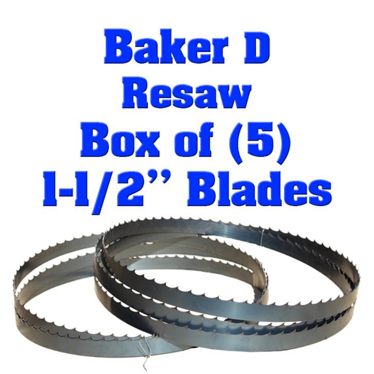 Bandsaw blades for Baker D resaw