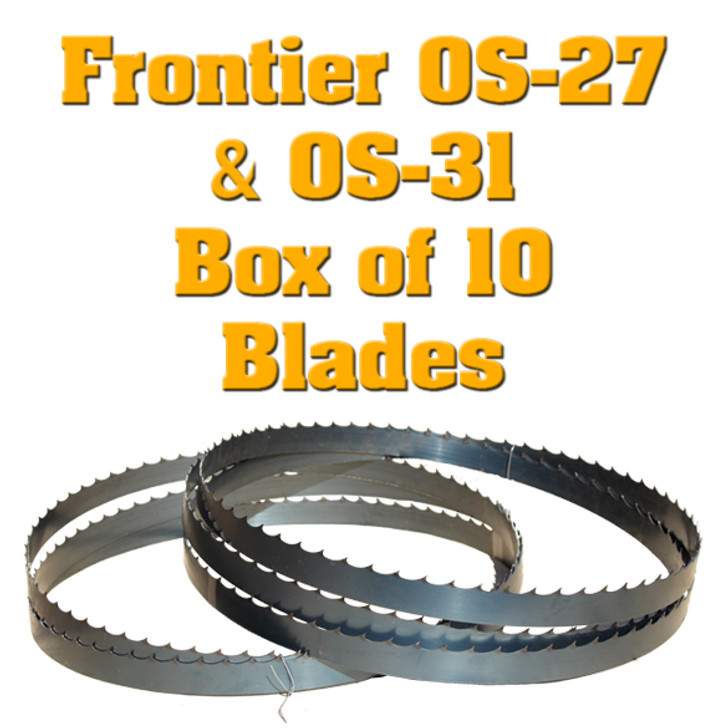 Bandsaw blades for Frontier OS-27 and OS-31