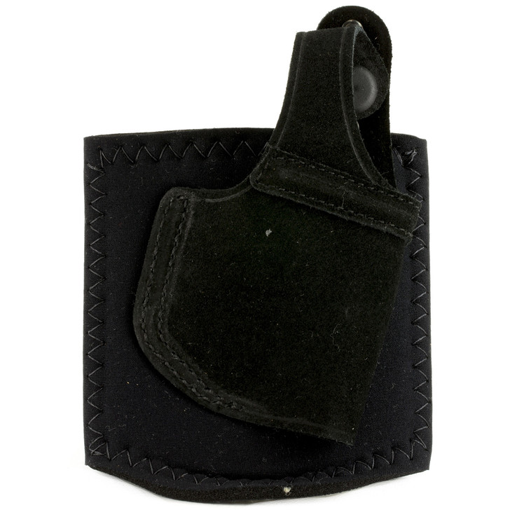Galco Ankle Lite Ankle Holster  Fits S&W Shield  Right Hand  Black Leather AL652B