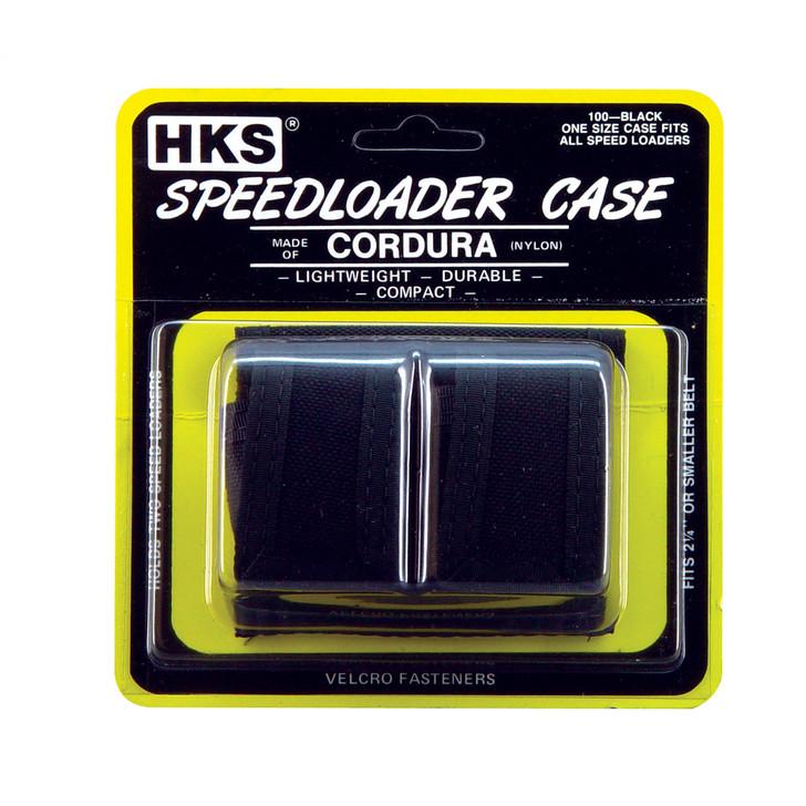 HKS Speedloader Pouch  Fits Double  Cordura  Black 100B