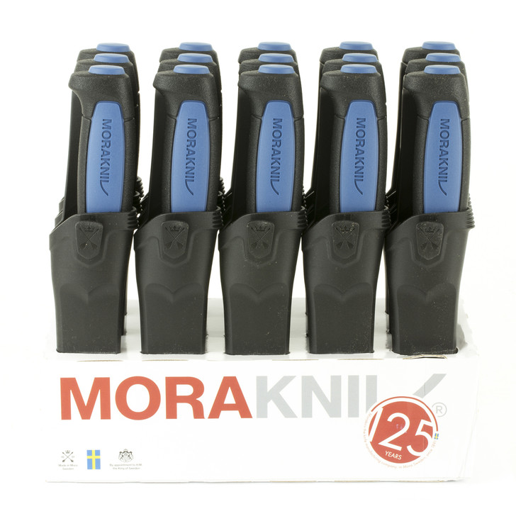 """Morakniv 15 Pack of Pro S Fixed Blade Knives  Stainless Steel Blade  Black and Blue Handle  Black Sheath  3.6"""" Blade and 8.1"""" Overall Length M-12242"""