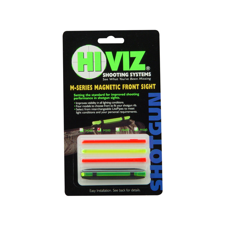 "Hi-Viz Magnetic Sight  Fits Narrow Shotgun Rib .219""-.312""  4 Color M300"