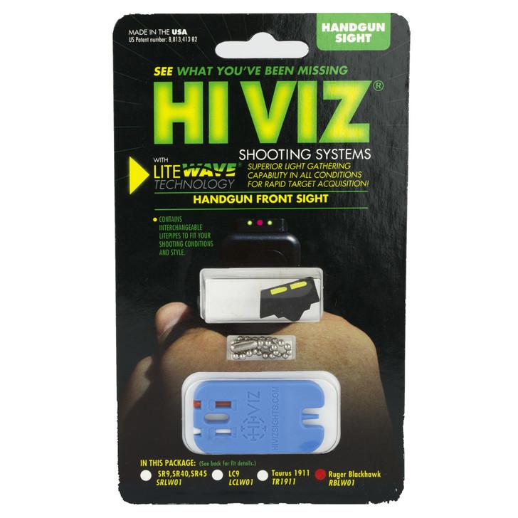 Hi-Viz Litewave Sight  Fits Ruger Blackhawk  Front Sight  Include Litepipes and Key RBLW01