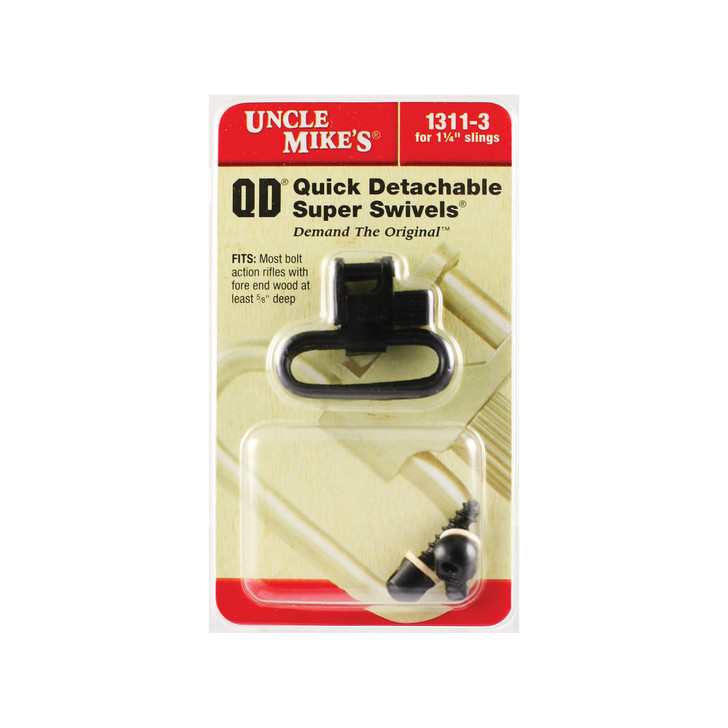 """Uncle Mike's QD 115 RGS Swivel  1.25""""  With Wood Screw  Black 1311-3"""