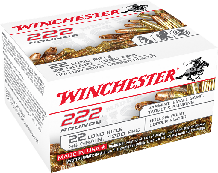 Winchester 22LR 36GR Hollow Point - 22LR222HP - 222RD Box