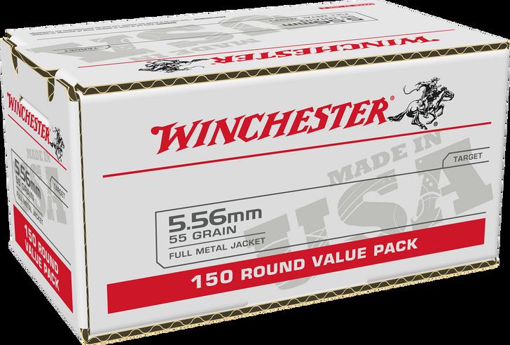 Winchester 5.56 Nato 55GR FMJ - USA556L1 - 150RD Box - LIMIT 2