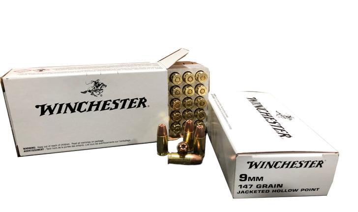 Winchester 9MM 147GR JHP Brass Self Defense - 50rd Box - Q4429
