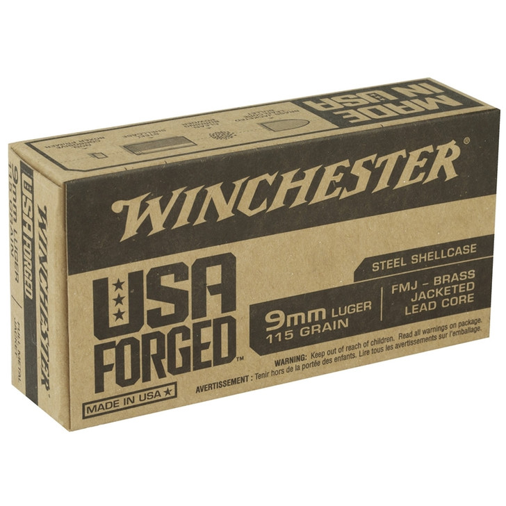Winchester Steel 9MM 115Gr FMJ - WIN9SV -50 Round Box