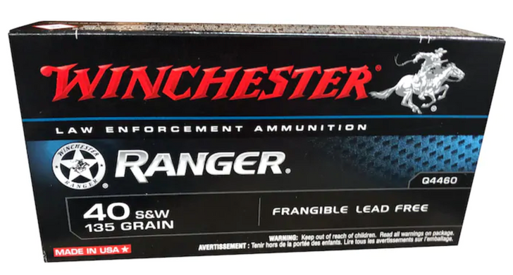 Winchester Ranger  40 S&W 135GR Frangible - Q4460 - 50RD BOX - LIMIT 3